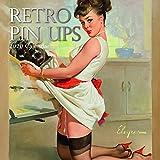2020 Wandkalender - Retro Pin-Ups Kalender, 30 x 30 CM auf Englisch, 16-Monat, Sexy Ladies Theme, Enthalten 180 Anzeigen-Aufkleber