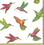 Caspari Hummingbirds Cocktail Napkin,...