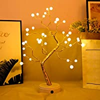 Tabletop Bonsai Tree Light with 36 Pearls LED,DIY Artificial Light Tree Lamp Decoration for Gift,Touch Switch Battery/USB Operated Bonsai Tree Light for Bedroom Desktop Christmas Indoor Decoration.