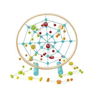 Hape- Tangled Web Toss Game (Multi-Colour) Juego de puntería Araña, (Barrutoys E5555)