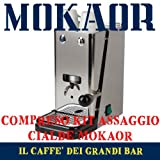 Macchina Cialde Flytek Zip INOX ESE 44mm + 15 CIALDE MOKAOR ESPRESSO ITALIANO DAL 1954 immagine