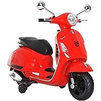 HOMCOM Moto Eléctrica Infantil Coche Triciclo para Niños 3-6 Años Carga 30kg Rojo