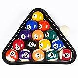 Mace 3,8cm usa mini set di palle da biliardo in miniatura 1–1/2Billiard Ball set con Triangle Ball rack