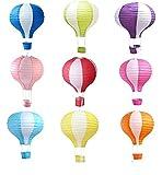 Matissa Pack von 9 Heißluftballon Papierlaterne Hochzeit Dekoration Handwerk Lampenschirm (12