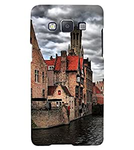 PrintVisa Lake Side Building 3D Hard Polycarbonate Designer Back Case Cover for Samsung Galaxy A7 (2015):: Samsung Galaxy A7 Duos :: Samsung Galaxy A7 A700F A700FD A700K/A700S/A700L A7000 A7009 A700H A700YD