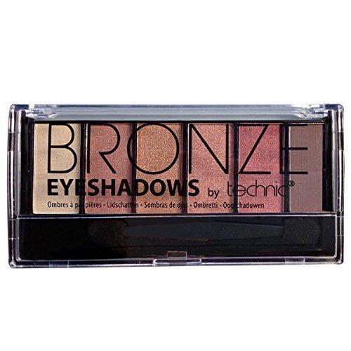 Technic: Eyeshadow 6s Bronze (6 stk)