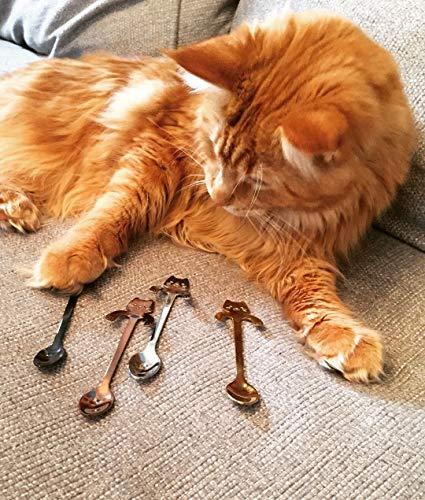 Ayomi 4Edelstahl Katze Kätzchen Design Edelstahl Kaffee/Dessert/Drink/mischen/Milchshake Löffel Geschirr Besteck Gadgets Scoop Schöpfkelle Löffel - 9