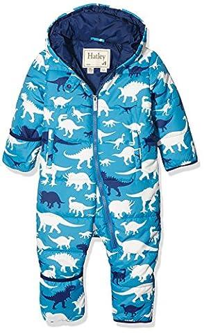 Hatley Baby-Jungen Schneeanzug Puffer Bundler-Silhouette Dino, Blau, 6-12 Monate