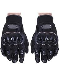 SODIAL(R) Paire Noir Gants Doigt Complet Protection M Moto V??lo Sport Femme Homme