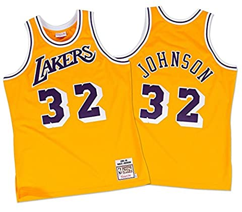 Magic Johnson Los Angeles Lakers Mitchell & Ness Authentic 1984