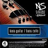 D\'Addario Bowed Jeu de cordes pour contrebasse/violoncelle D\'Addario NS Electric, manche 4/4, tension Medium