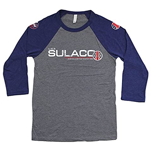 ALIENS: USS SULACO Unisex 3/4 Sleeve Baseball T-Shirt (S/Heather