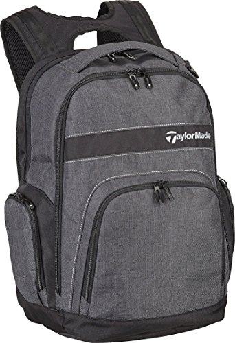 TaylorMade Golf 2018 Mens Players Backpack Sports Bag / Gym Bag / Laptop Bag Charcoal/Black