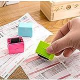 Kleine Rollstempel, Identitätsschutz, perfekt für den Datenschutz, zufällige Farbe, 3 Stück