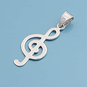925 Silver Pendant Music Note