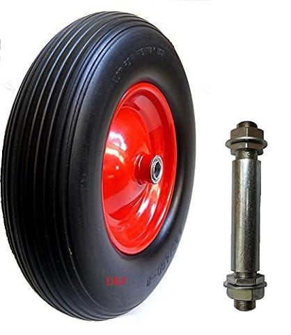 PU Schubkarrenrad 4.80/4.00-8 Reifen für Schubkarre Vollgummi mit