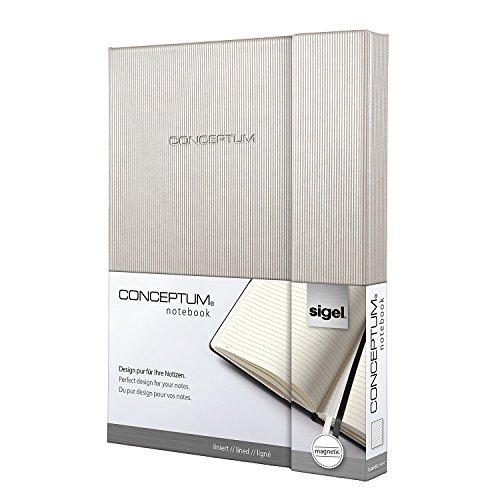 Sigel CO630 Notizbuch Design Glam, ca. A5 Hardcover, liniert, champagne metallic, CONCEPTUM - viele Modelle