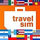 Internationale Prepaid TravelSim Sim Karte für Nordamerika (die USA, Mexico), Mittelamerika (Costa Rica, Dominikanische Republik, Guadeloupe, Guatemala, Honduras, Nicaragua, Puerto Rico) und Südamerika (Argentinien, Brasilien, Chile, Kolumbien, Paraguay, Peru, Uruguay) mit 1 GB Daten / für 30 Tage (3G/4G)