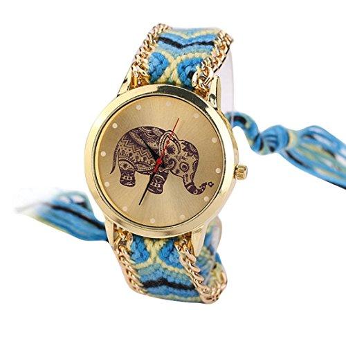 familizo-women-elephant-pattern-weaved-rope-band-bracelet-quartz-dial-wrist-watch-yellow-blue