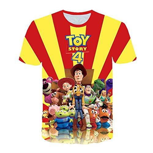 Tftory&1314 T-Shirt Animation FüR Jungen Und MäDchen 3D-Gedruckte Kurzarm FüR Kinder Mit Einer GrößE Von 100 Bis 160 cm Lose/I / 110 cm
