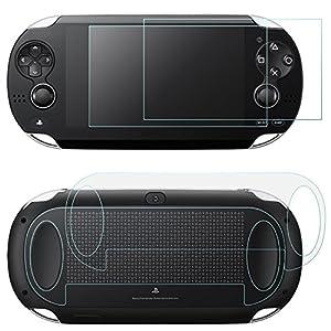 Displayschutzfolien für Sony PlayStation Vita 1000 mit rückseitigen, AFUNTA 2 Pack Gehärtetes Glas für Frontscheibe und…