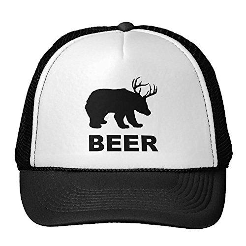 Bären Custom Schwarz T-shirt (Gxdchfj Schwarzer Bär Hirsch Hirsch Bier? T-Shirt Trucker Hat Design18)