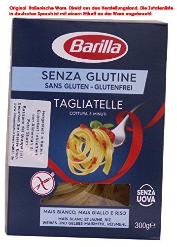 Barilla Tagliatelle 8 x 300g = 2400g senza Glutine Glutenfrei und ohne Eier.