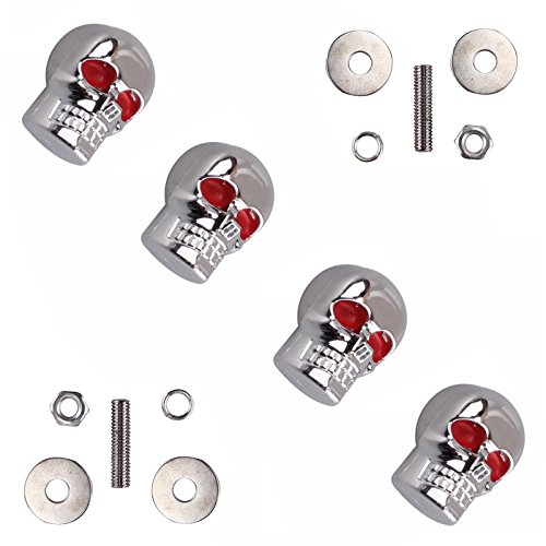 4x-chopper-bobber-motorcycle-skull-license-plate-bolts-frame-screw-6mm-fairing-windscreen-bolts-car-