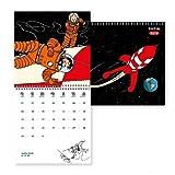 Moulinsart Calendrier Mural 2019 Tintin Aventure sur la Lune 30x30cm (24398)...