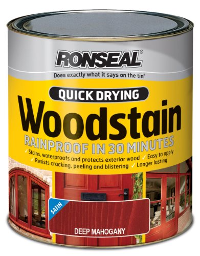 ronseal-qdwsdm750-750ml-woodstain-quick-dry-satin-deep-mahogany