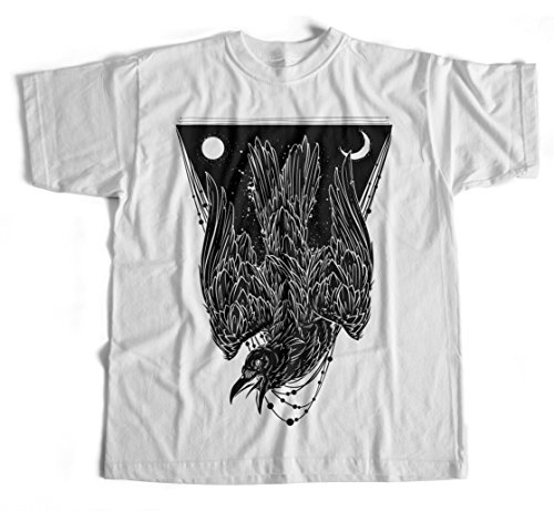 Gangster-hexe (T-Shirt Crow Schwarz KrŠhe Vogel Hipster Streetwear Mond Hexe Goth Manga Rabe)
