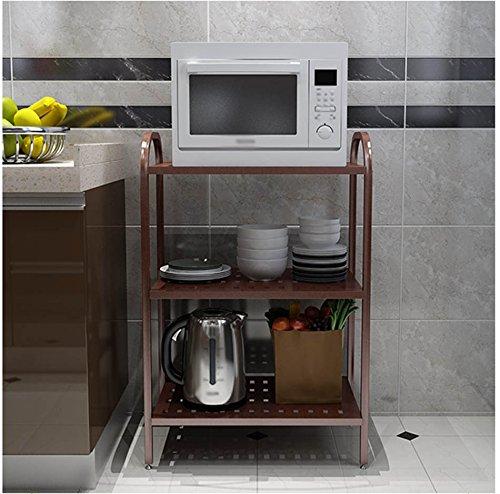 GYP Estante del horno de microondas, Multifunción Simple Modern Save Space Condiment Storage Rack Arrocera Rack Iron Art Multi-capa 60 * 40 * 52-85cm ( Tamaño : #2 )