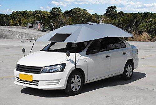 BMDHA Halbautomatisches Autoplanen Zusammenklappbar UV-Schutz Wasserdicht Reise Unerlässlich