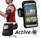 Brassard Navitech en néoprène imperméable de couleur noir, pour jogging, gym ou autre activités physiques pour le Samsung Galaxy Note 2 N7100 5.5' Inch Phablet