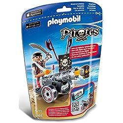 Playmobil - Cañón interactivo negro con corsario.