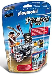 Playmobil 6163 : Pirates : Pirate avec canon rouge Playmobil  Magasin de