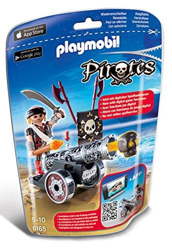 Playmobil - Cañón interactivo negro con corsario (61650)
