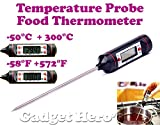 Gadget Hero's Pen Type Digital Food Probe Meat Thermometer Sensor BBQ Kitchen Cooking