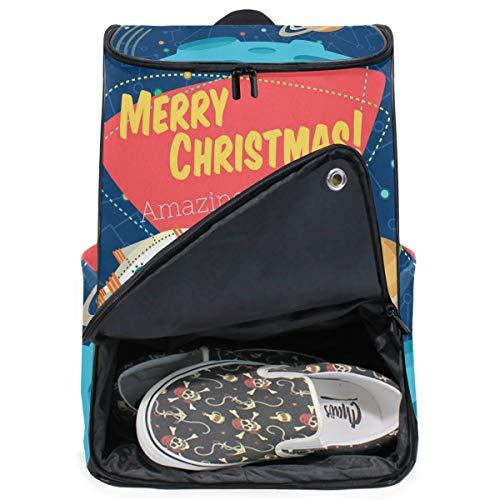 DEZIRO New Year Reiserucksack, große Tasche, Schule, Multifunktions-Rucksack für Damen und Herren, 31 x 19 x 50 cm