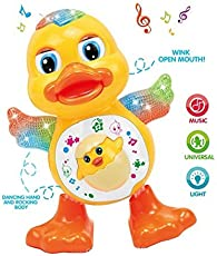 YIJUN Dancing Duck Toy with Real Dancing Action & Music Flashing Lights, Multi Color