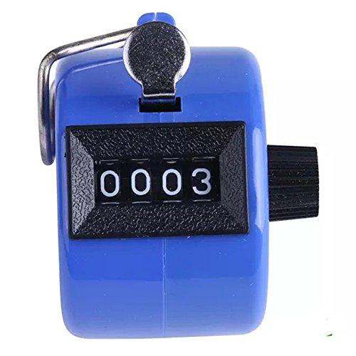 Zähler , Colorful (TM) Handzählgerät, Handzähler ,4-stellige Handzähler (Blau)