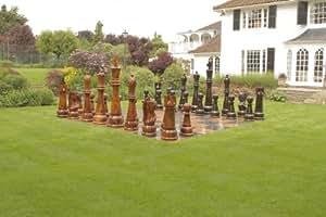 Gigantic Chess Pieces - Teak