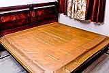 #9: Baby Waterproof Plastic Sheet- Double Bed/Baby-Adult Waterproof Mattress Protector by GoodLuck (King Size - 7.5 x 6.5 Feet -Golden Brown)