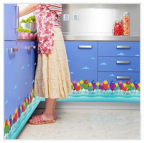 Cartoon Bunte Fische Klassenzimmer Kinderzimmer Sockelleiste Dekoration Wandaufkleber Schlafzimmer Wohnzimmer Wandaufkleber