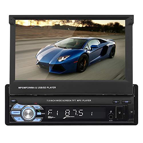 Gfyee Autoradio mit Ausfahrbarem Display Navi, 7 \'\' 1080P HD Touchscreen Android Auto Navigation Stereo - Mit FM/AM/MP3/SD/USB/DVD/AUX/MP5/Bluetooth - Freisprechen/Fernbedienung/Rückfahrkamera