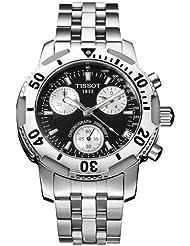 Tissot PRS 200 T17148653 - Reloj de caballero de cuarzo, correa de acero inoxidable color plata
