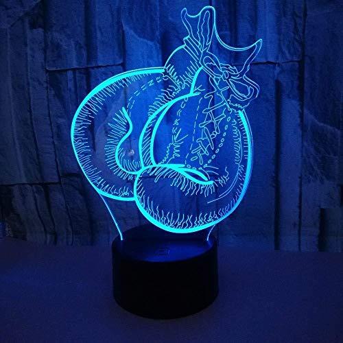 Boxhandschuh Modell LED3D Nachtlicht 7 Farben blinkend Touch Sensor USB Illusion 3D Licht für Schlafzimmer dekorative Tischlampe