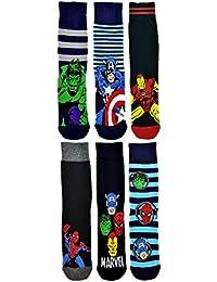 Socks Uwear OFFICIAL Chaussettes Marvel Avengers-Excellente qualité-Spiderman-Marvel Captain America Hulk-Iron Man-Taille : 39-45