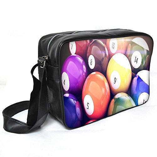 Snoogg Billard Kugeln Leder Unisex Messenger Bag für College Schule täglichen Gebrauch Tasche Material PU