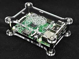 Höhenverstellbares stapelbares Raspberry Pi 3, Raspberry Pi 2, Raspberry Pi B+ Gehäuse Glasklar Acryl 4 zusätzliche Abstandsbolzen Gratis Dazu! G-RP-BPC Vullers Tech